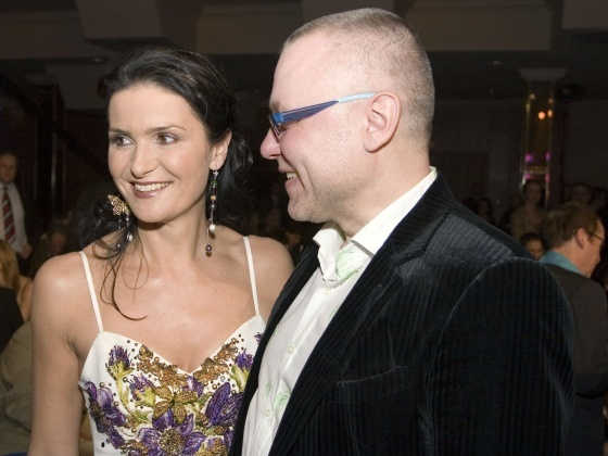 Zdenek Bakala with Michaela Malacova.