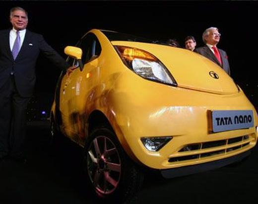 Ratan Tata during the launch of Nano in Mumbai.