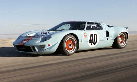 1968 Ford GT40 Gulf/Mirage Coupe.