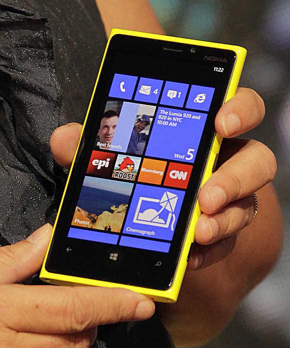 Lumia 920 phone.
