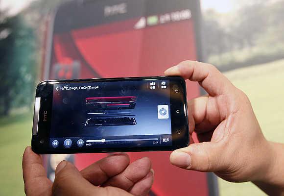 HTC Butterfly smartphone.