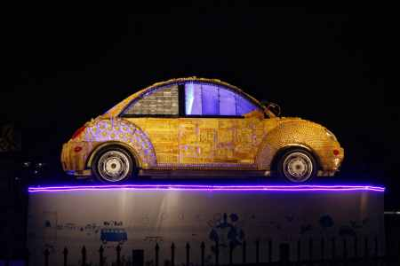 Volkswagen Beetle recreated. This time with scrap material