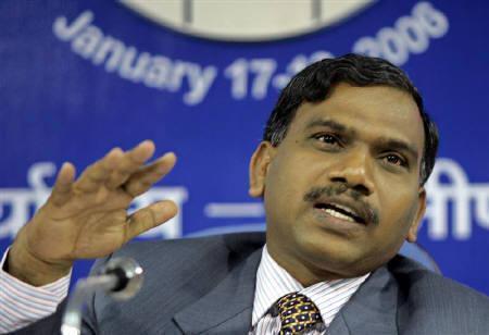 A Raja, former Telecom Minister.