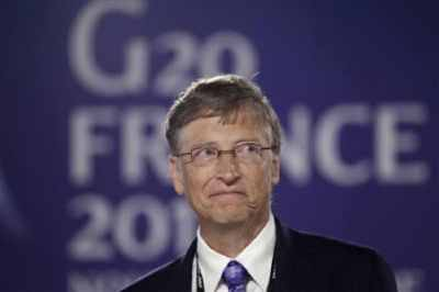 Bill Gates at G20 Summit in Cannes, France in November 2011.