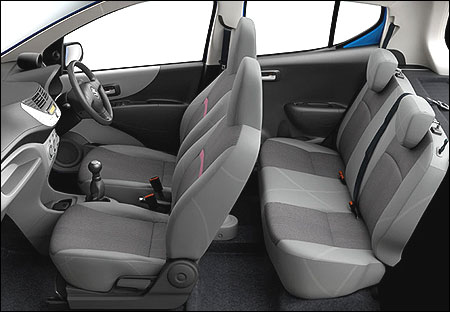 Front and back seats of A-Star.