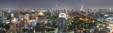 A view of Bangkok.