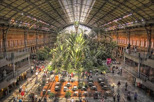 Atocha Station, Madrid.