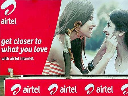 Bharti Airtel ad.