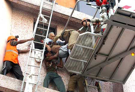 A file photo of the rescue work going on at AMRI Hospital.