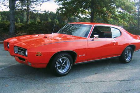 1969 Pontiac GTO Judge 2-door Hardtop.