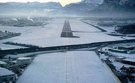 Courchevel Airport.
