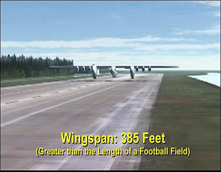 A huge plane.
