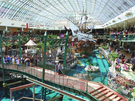 The West Edmonton Mall in Edmonton.