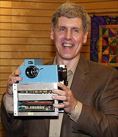 Steve Sasson with the first digital camera.