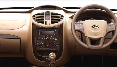 Glossy wood interior panels of E9.