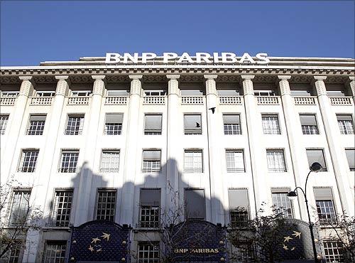 BNP Paribas bank headquarters.