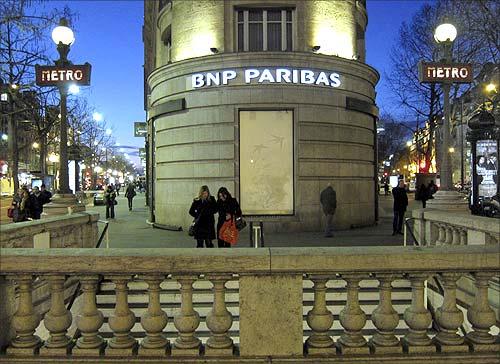 BNP Paribas bank.
