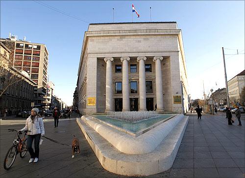 Croatian Central Bank headquarters.