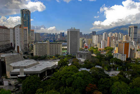 A view of Caracas, capital of Venezuela.