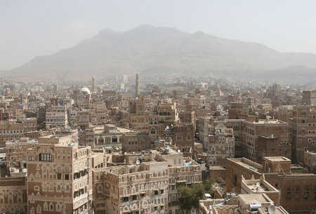 A view of capital Sanaa.