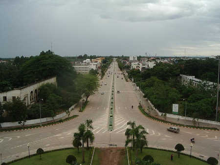 A view of capital Vientiane.