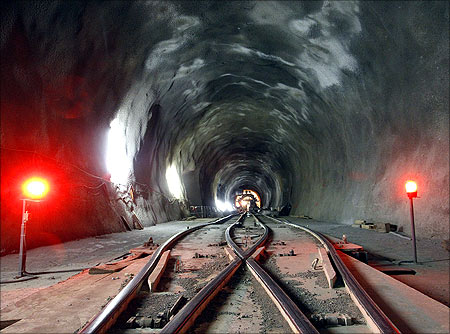 Gotthard Base Tunnel.
