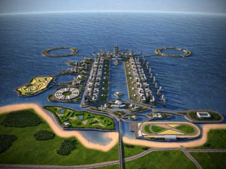 The project will be on an artificial island.