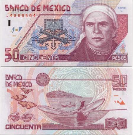50 pesos.