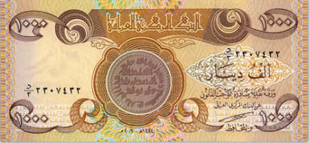 1,000 Iraqi dinars.