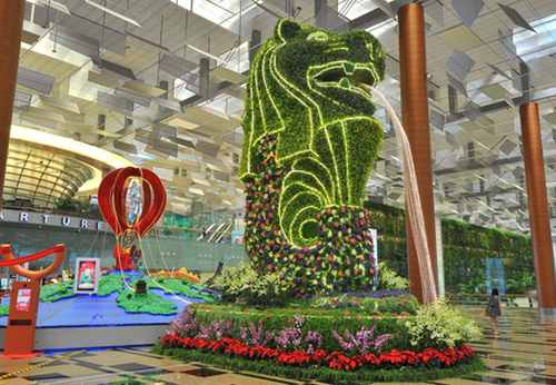 Changi Airport, Singapore.