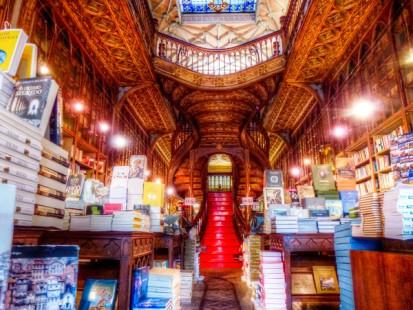 Livraria Lello, Porto, Portugal.