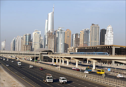 Highway in Dubai.