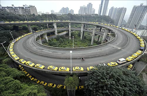 Highway in China.