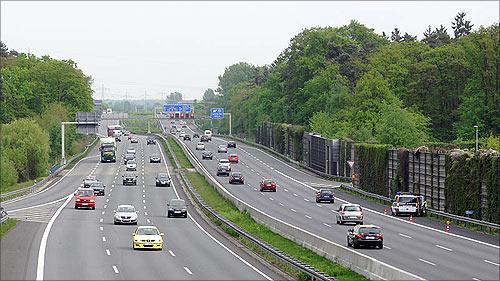 German Autobahn in Lehrte.