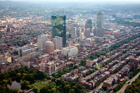 The United States has 412 billionaires. A view of Boston.