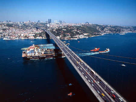 Turkey has 38 billionaires. A view of Istanbul.