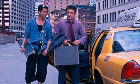 Actor Saif Ali Kahn, right, carries a Louis Vuitton briefcase in Kal Ho Naa Ho
