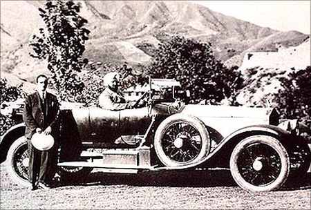 Maharaja Bhupinder Singh of Patiala with his Rolls Royce