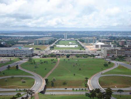 A view of Brasilia.