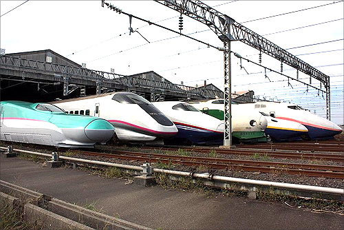 Japan's high speed train.