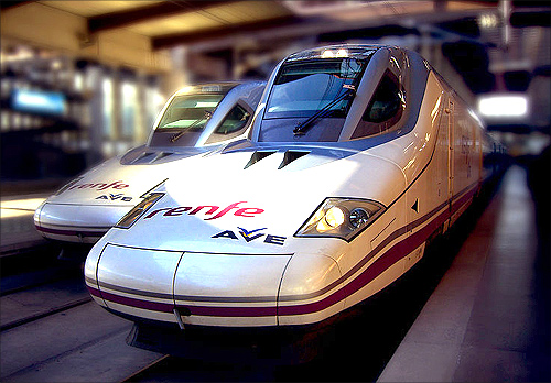 High-speed train, Spain.
