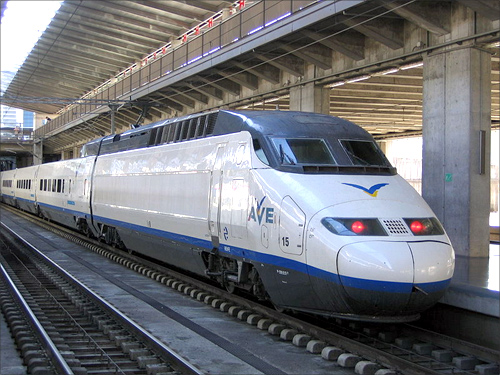 High speed train, Spain.