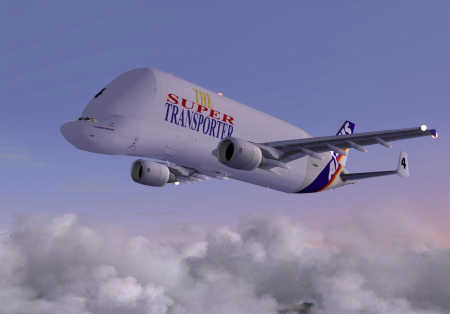 Its primary task is to carry Airbus components.
