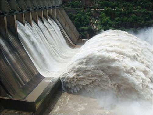 Srisailam dam.