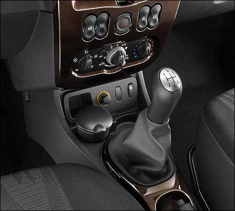The gear stick.