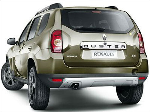 Rear view of Duster.