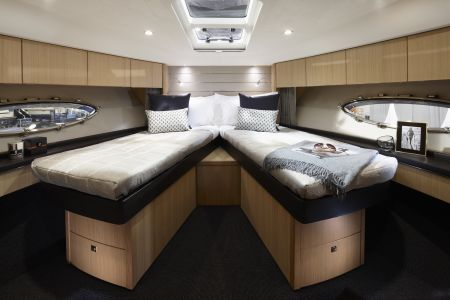 Princess V57 comes with elegant lines, exhilarating performance and boasts a spacious interior.