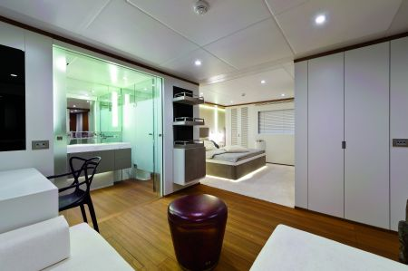 The interiors reflect the nautical exteriors.