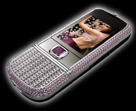 Nokia 8800 Arte with pink diamonds.