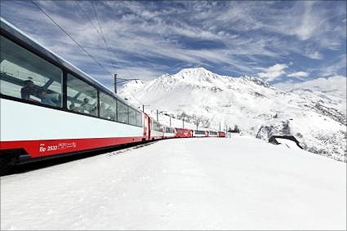 Onboard the stunning Glacier Express